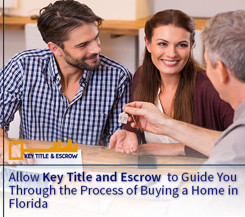 Picture of a Couple Closing on Their New House in Florida With the Help of Key Title and Escrow