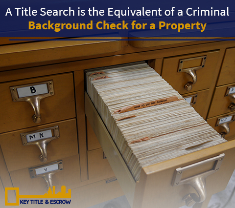 Picture of a Title and Escrow Company Doing a Title Search