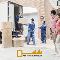 Picture of the Complimentary Moving Truck Offered by Key Title & Escrow to their Clients