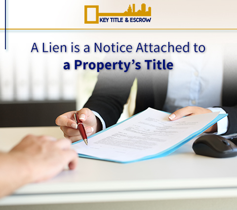 Picture of a Property's Title with a Lien
